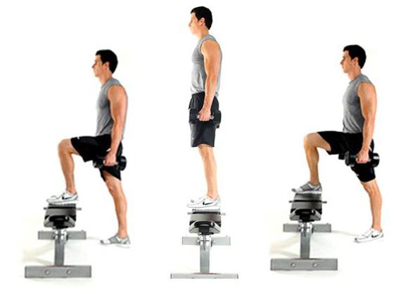 step ups leg superset cardio workout 1