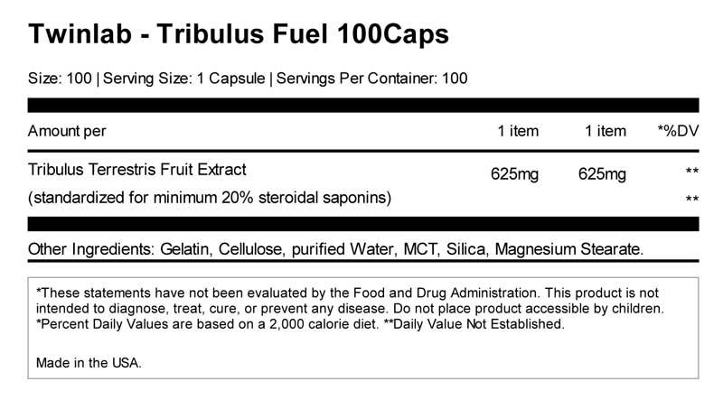 Twinlab Tribulus Fuelvalue