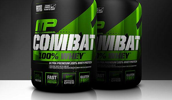 عکس معرفی و بررسی مکمل پروتئین وی تاثیر گذار Muscle Pharm Combat Powder