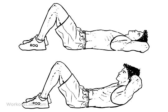 59567ea6ce8ab Sit up Crunch M WorkoutLabs