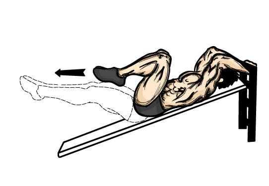 59567ebab7f28 incline leg raises lower abs