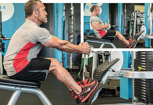 عکس ۵ حرکت برتر عضلات پشت با دستگاه