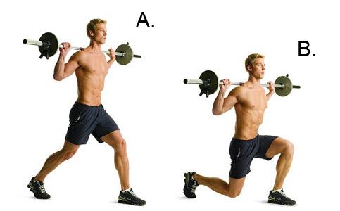 Image result for forward lunge barbell