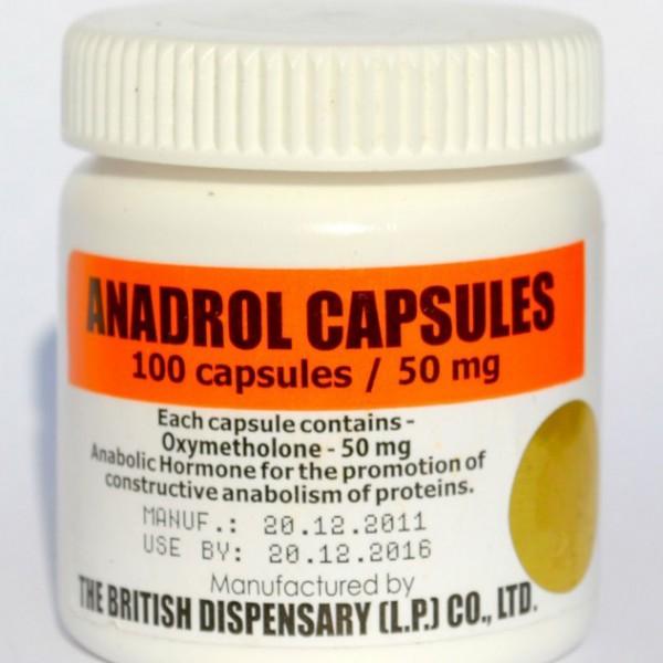 Anadrol 50 mgtab 100 tab Oxymetholone British Dispensary 7