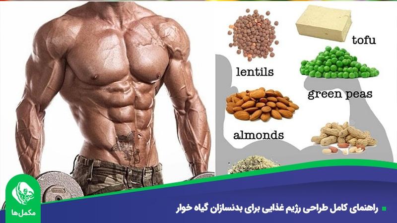 راهنمای کامل طراحی رژیم غذایی برای بدنسازان گیاه خوار