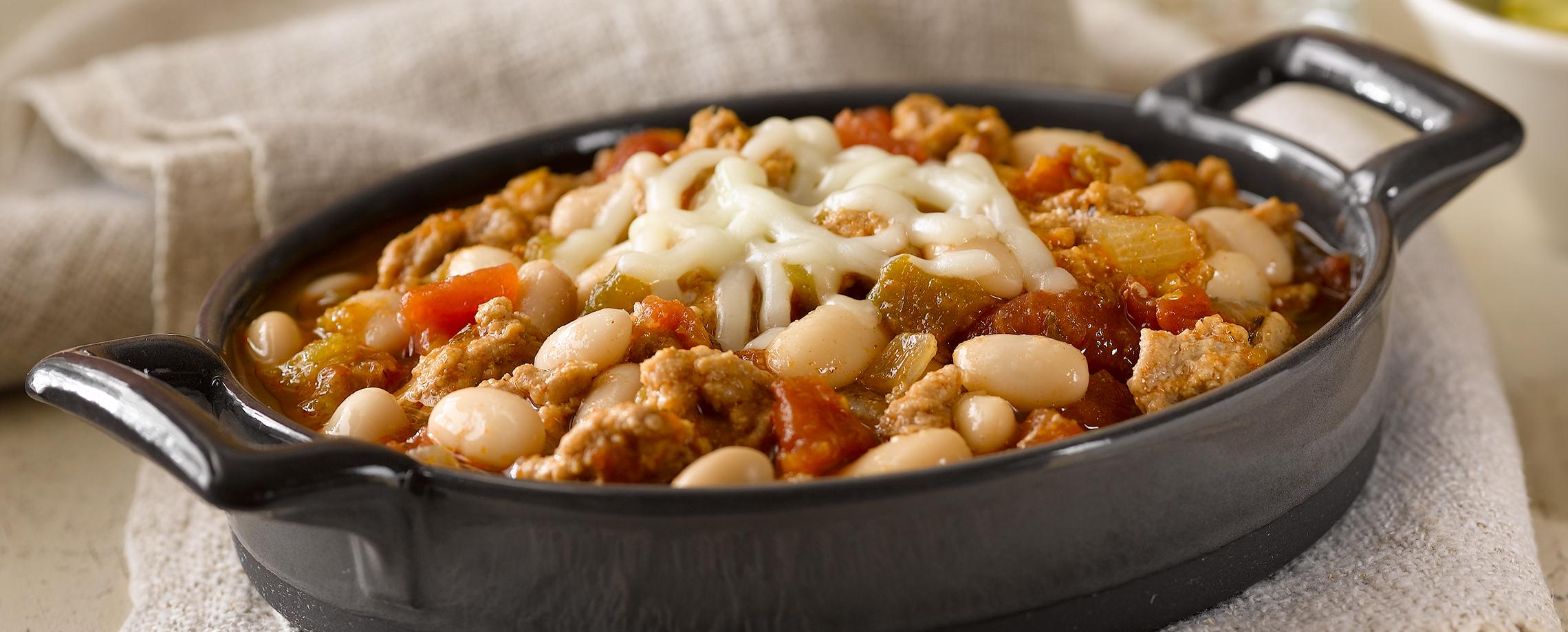 433 white bean turkey chili