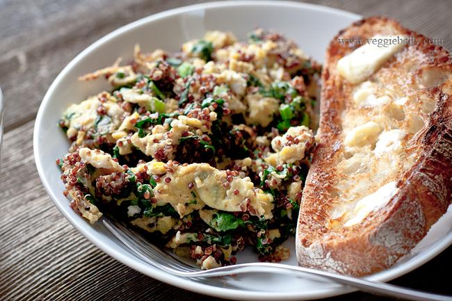 quinoa egg and kale scramble recipe1