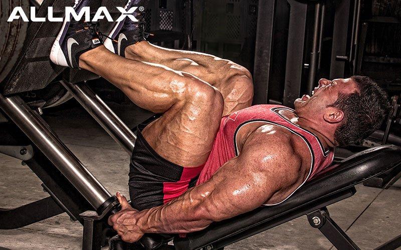 Allmax Athlete Steve Kuclo Performs Leg Presses