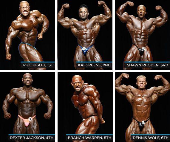 برترین های مسترالمپیا 2012