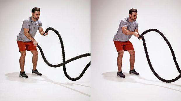battle rope exercises biceps whips