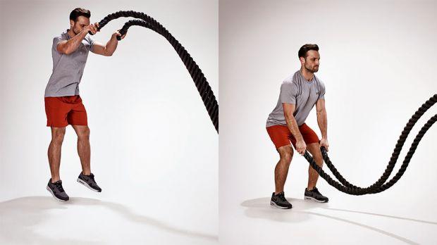 battle rope exercises jumping slam