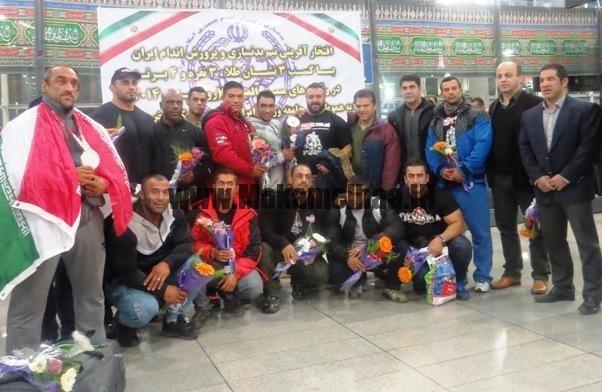 تیم منتخب پرورش اندام ایران صبح امروز وارد تهران شد