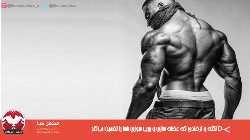 ۵۰ نکته و ترفندی که عضله سازی و چربی سوزی شما را تضمین میکند