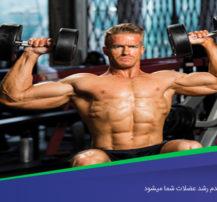 ۴ مشکلی که باعث عدم رشد عضلات شما میشود